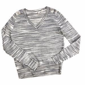 Moth | Anthro Knit Grey Heather Sweater
